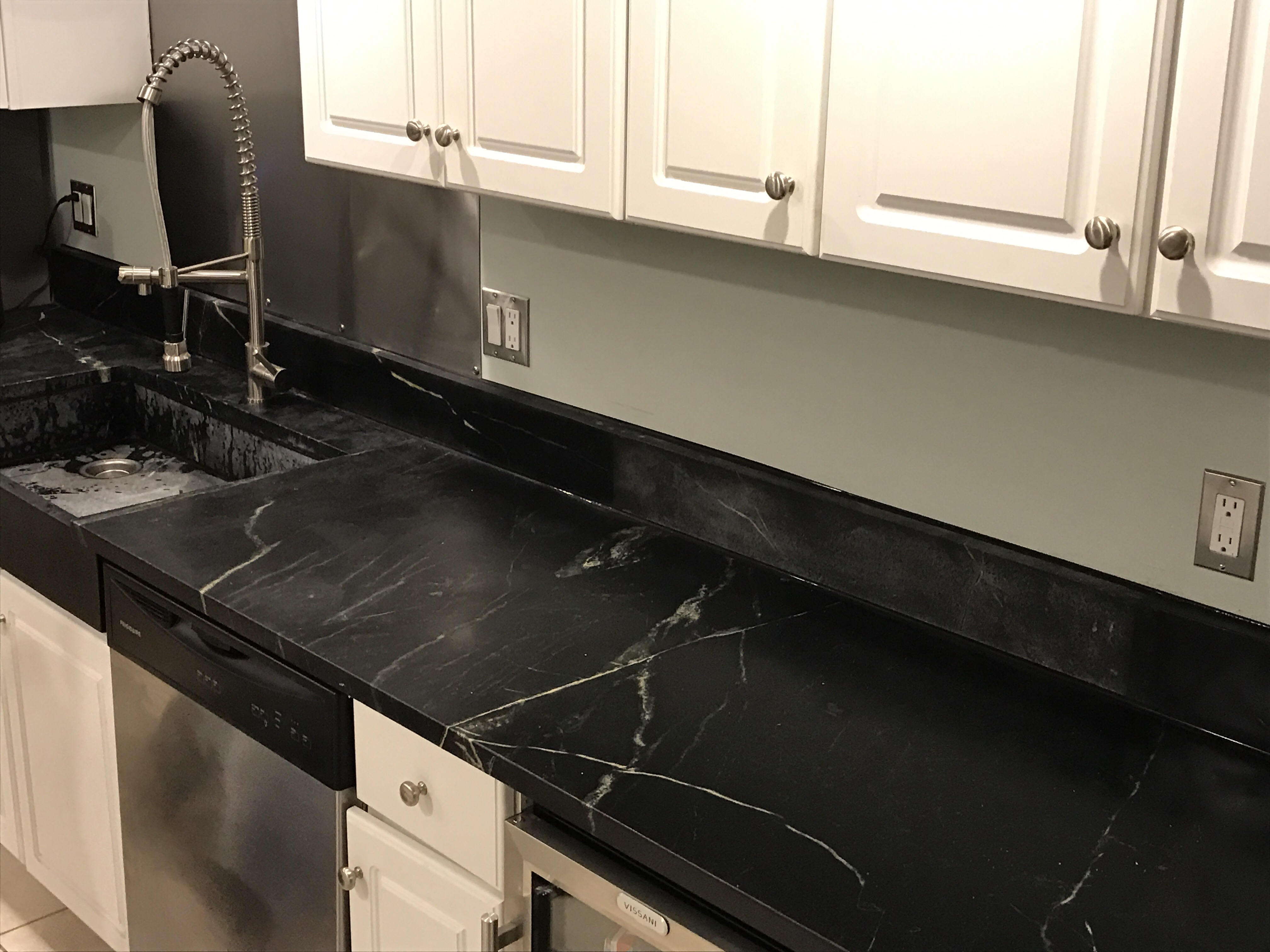 still working on the kitchen. | artistic soapstone, incorporated